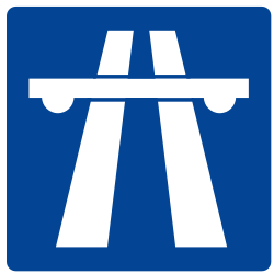 Traffic sign of Argentina: Begin of a motorway