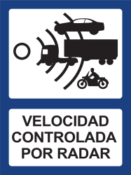 Traffic sign of Argentina: Section control