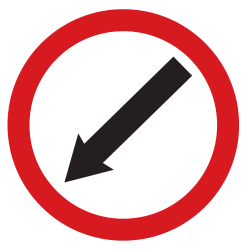 Traffic sign of Argentina: Passing left mandatory