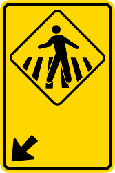 Traffic sign of Brazil: Crossing for pedestrians