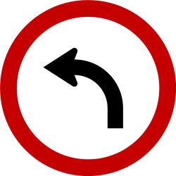 Traffic sign of Brazil: Turning left mandatory