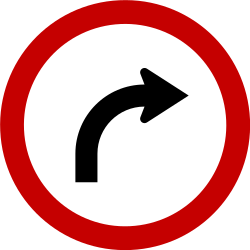 Traffic sign of Brazil: Turning right mandatory