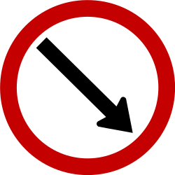 Traffic sign of Brazil: Passing right mandatory