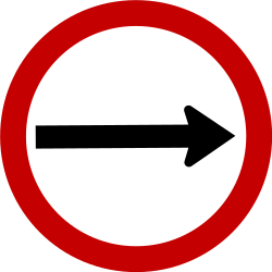 Traffic sign of Brazil: Mandatory right