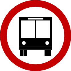 Traffic sign of Brazil: Mandatory lane for buses