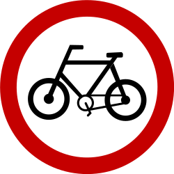 Traffic sign of Brazil: Mandatory path for cyclists