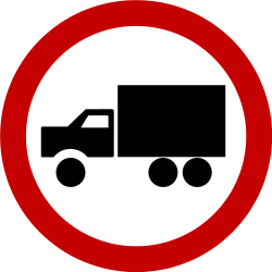 Traffic sign of Brazil: Mandatory lane for trucks