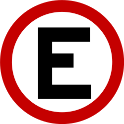 Traffic sign of Brazil: Mandatory parking spot
