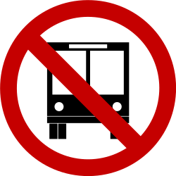 Traffic sign of Brazil: Buses prohibited