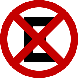 Traffic sign of Brazil: Parking and stopping prohibited