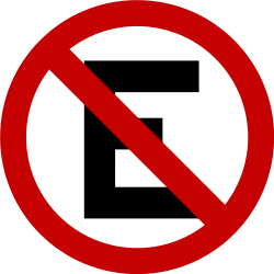 Traffic sign of Brazil: Parking prohibited