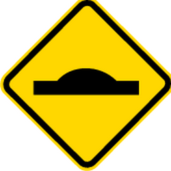 Traffic sign of Brazil: Warning for a speed bump