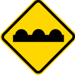 Traffic sign of Brazil: Warning for a bad road surface