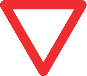 Traffic sign of Brazil: Give way to all drivers