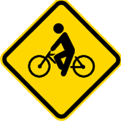 Traffic sign of Brazil: Warning for cyclists