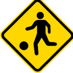 Traffic sign of Brazil: Warning for a <a href='/en/brazil/overview/playground'>playground</a>