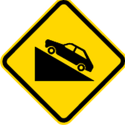 Traffic sign of Brazil: Warning for a steep ascent