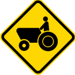 Traffic sign of Brazil: Warning for tractors