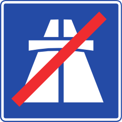 Traffic sign of Chile: End of the motorway