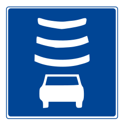 Traffic sign of Chile: Section control