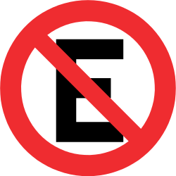 Traffic sign of Chile: Parking prohibited