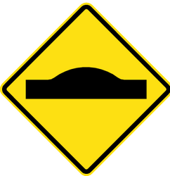 Traffic sign of Chile: Warning for a speed bump