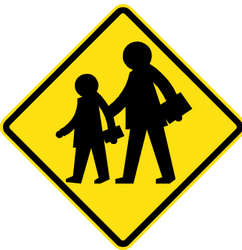Traffic sign of Chile: Warning for children