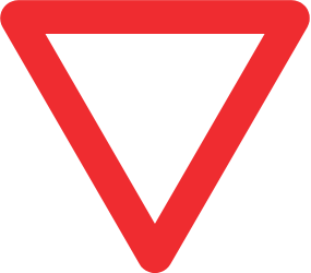 Traffic sign of Chile: Give way to all drivers