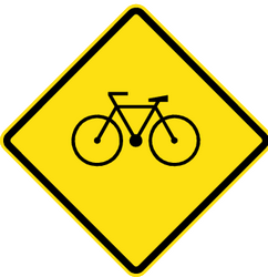 Traffic sign of Chile: Warning for cyclists