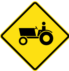 Traffic sign of Chile: Warning for tractors