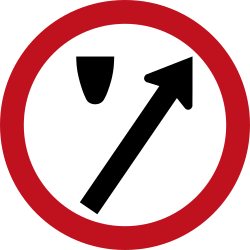 Traffic sign of Colombia: Passing right mandatory