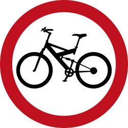 Traffic sign of Colombia: Mandatory path for cyclists
