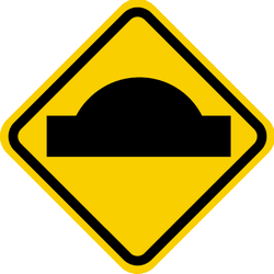 Traffic sign of Colombia: Warning for a speed bump