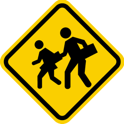 Traffic sign of Colombia: Warning for children