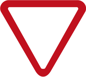 Traffic sign of Colombia: Give way to all drivers