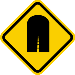 Traffic sign of Colombia: Warning for a tunnel