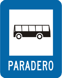 Traffic sign of Peru: <a href='/en/peru/overview/bus-lane'>Lane for buses</a>