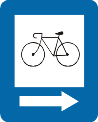 Traffic sign of Peru: Lane for cyclists