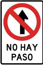 Traffic sign of Peru: Entry prohibited