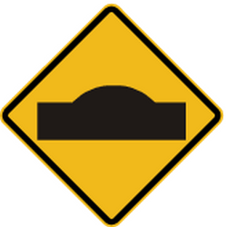 Traffic sign of Peru: Warning for a speed bump