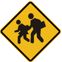 Traffic sign of Peru: Warning for <a href='/en/peru/overview/child'>children</a>