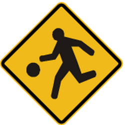 Traffic sign of Peru: Warning for a <a href='/en/peru/overview/playground'>playground</a>