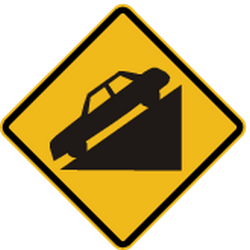 Traffic sign of Peru: Warning for a steep descent