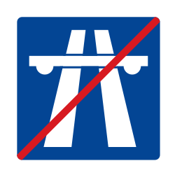 Traffic sign of Uruguay: End of the motorway