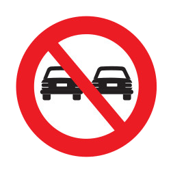 Traffic sign of Uruguay: Overtaking prohibited