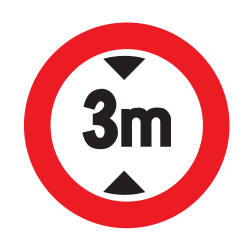 Traffic sign of Uruguay: Vehicles higher than indicated prohibited
