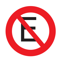 Traffic sign of Uruguay: Parking prohibited