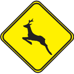 Traffic sign of Uruguay: Warning for crossing deer