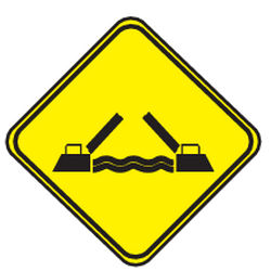 Traffic sign of Uruguay: Warning for a movable bridge