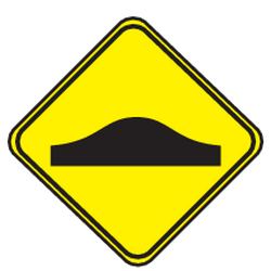 Traffic sign of Uruguay: Warning for a speed bump